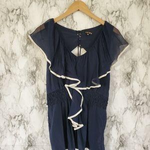 Revolve Akiko silk blouse size medium